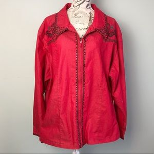 Victor Costa plus size 3X red sequin jacket